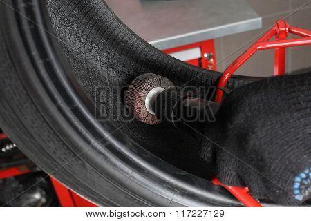 Car Service. Repair Of Tires