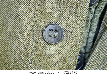One Round Buttons On Clothing