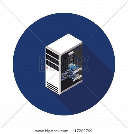 Flat Icon Computer