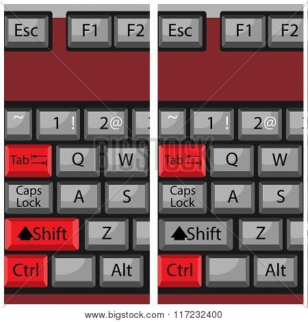 Combination Button Keyboard, Page Next And Back