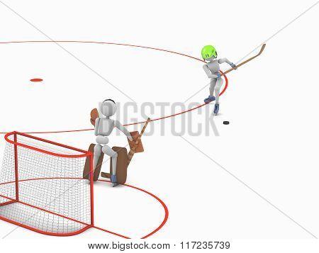 Duel Striker And Goalkeeper