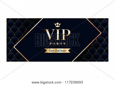 VIP invitation card premium design template.