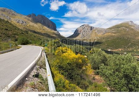 Pass road in Andalusia in South Spain