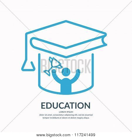 Education Vector Illustration.