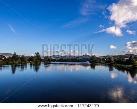 Vah River In Strecno