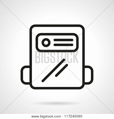 Black line gas counter vector icon