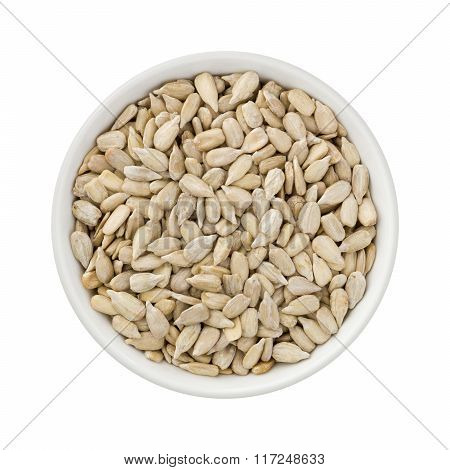 Sunflower Seeds In A Ceramic Bowl