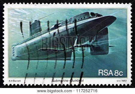 Postage Stamp South Africa 1982 Submarine