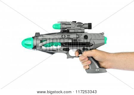 Fantastic toy gun isolated on white background