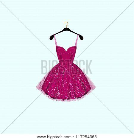 Fancy party dress. Vector illustration