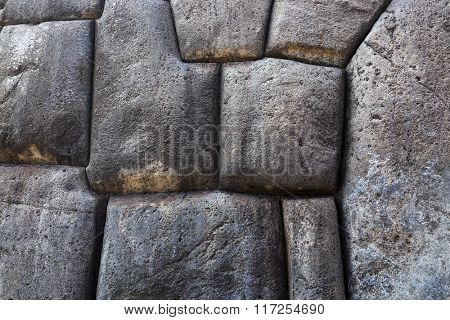 big stones in an ancient masonry of the Incas