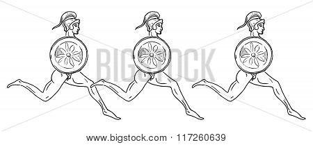 Hoplitodromia. Vector Illustration