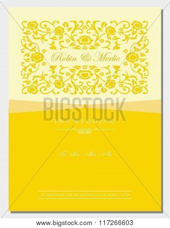 Gold Floral Invitation Cover