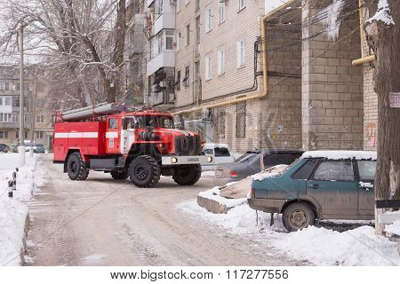 Machine Fire Service Prevents Leave Many Cars Parked At Home