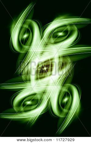 Beautiful and modern abstract light background of green poster
