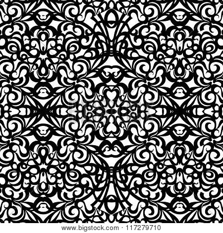 Baroque Style Pattern, vector seamless pattern