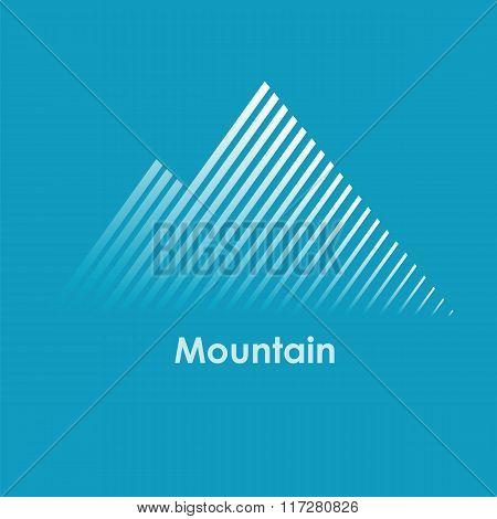 vector illustration of mountain, mountain logo, mountain design, mountain concept, line mountain