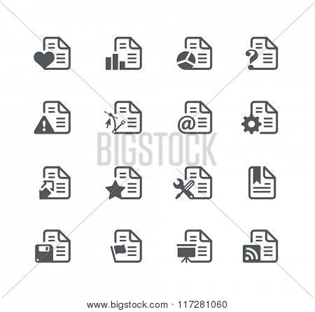 Documents Icons - 2 // Utility Series