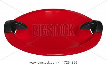 Toboggan Isolated On The White - Red
