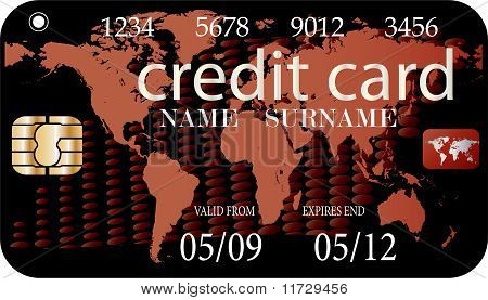 credit card - vector