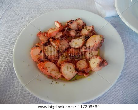 Broiled Octopus