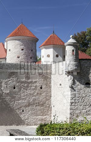 Defensive Wall Of Pieskowa Skala Castle, Near Cracow, Poland