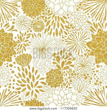 Floral gold ornament.