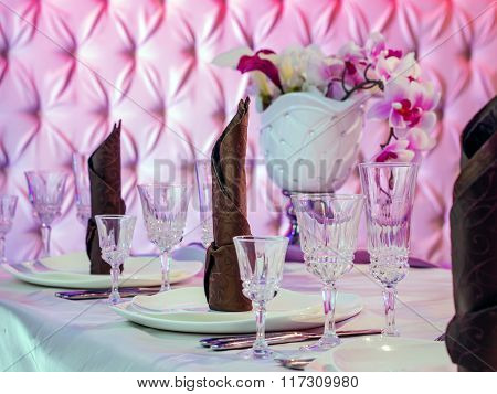 Beautiful table setting for celebration. Shallow DOF ** Note: Shallow depth of field