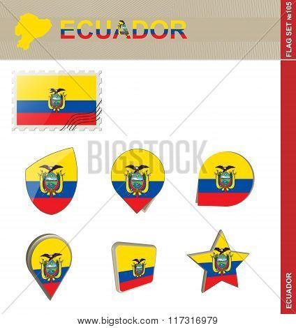 Ecuador Flag Set, Flag Set #105