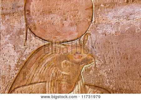 Ancient Egyptian Carving of Ra-Horakhty