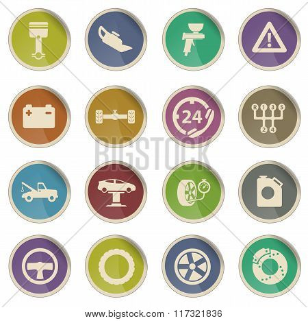 Car service simply icons