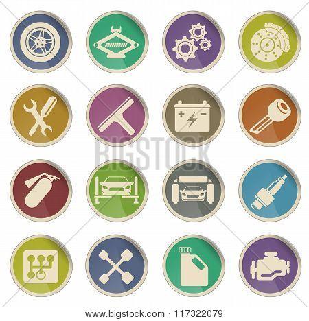 Auto Service web icons