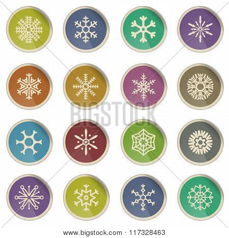 Snowflakes simply icons