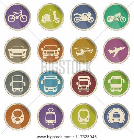 Transport mode icons