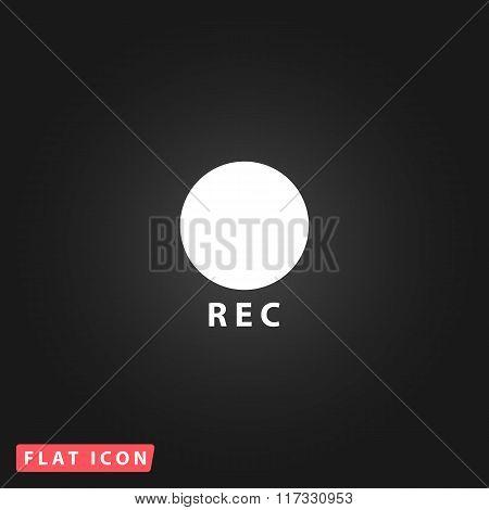 Rec button flat icon