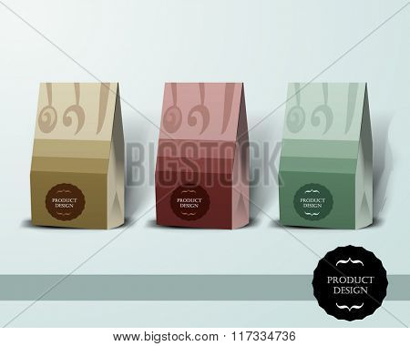 Mockup template for branding and product designs. Isolated realistic box with unique design. Easy to use for advertising branding and marketing.