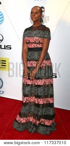 LOS ANGELES - FEB 5:  Tika Sumpter at the 47TH NAACP Image Awards Arrivals at the Pasadena Civic Auditorium on February 5, 2016 in Pasadena, CA