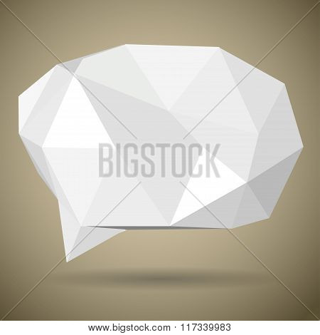 White Low Polygonal Speech Bubbles