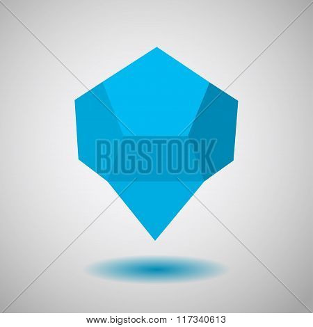 Blue Low Polygonal Speech Bubbles