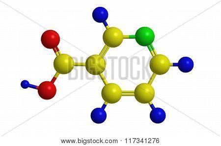 Molecular Structure Of Niacin (vitamin B3)
