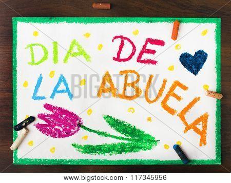 Spanish grandmothers day card