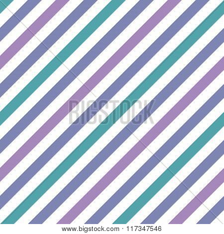 Seamless geometric pattern. Stripy texture for neck tie. Diagonal contrast strips on background. Blue, turquoise, lilac and white colors. Vector poster