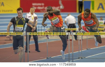 BIRMINGHAM, ENGLAND. 20-February-2010. The Aviva indoor athletics meeting held in the National Indoor Arena.