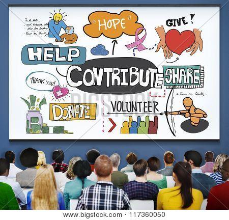 Contribute Corporate Collaboration Support Contribution Concept