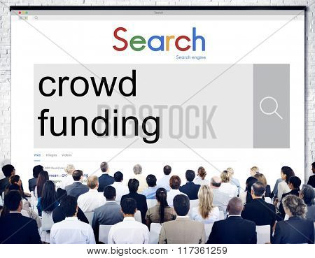 Crowd Funding Imvestment Funding Financial Concept