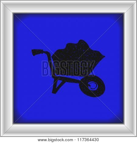 Simple Doodle Of A Wheelbarrow