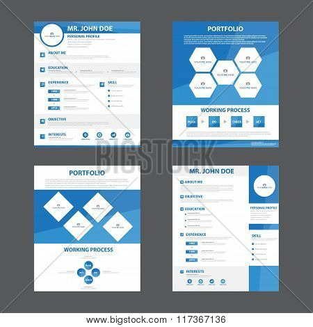 Smart creative resume ,business profile ,CV, vitae template layout flat design for job application