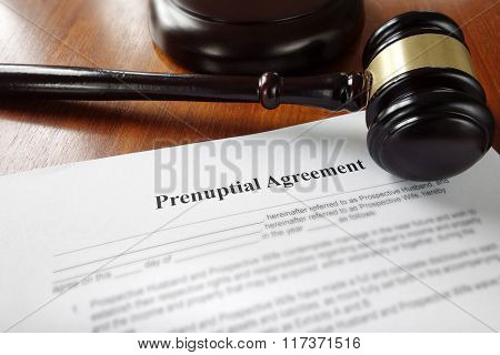 Prenuptial Marriage Agreement