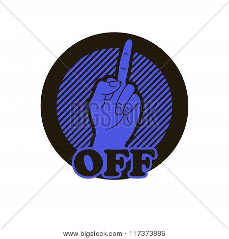 Hand With Middle Finger Icon.