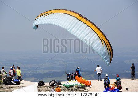 Paraglider In Summertime